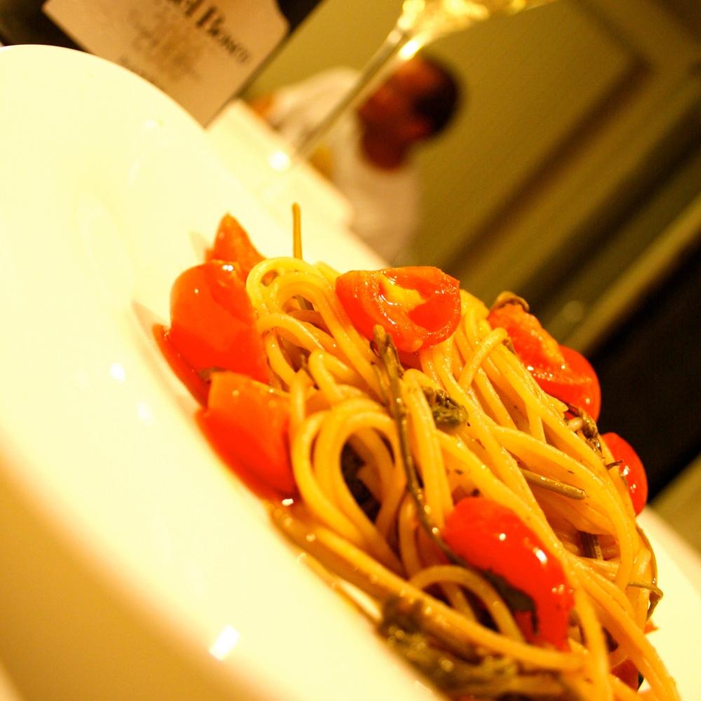 Le Ricette di Tuc: Spaghetti con cime di vigna e Franciacorta Ca' del Bosco Vintage Collection 2008