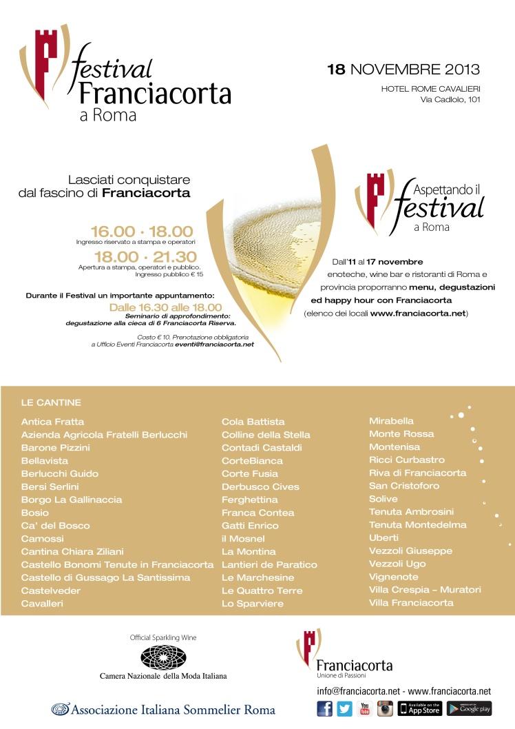 Tutti a Roma per il Festival Franciacorta!